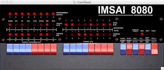 IMSAI 8080 front panel